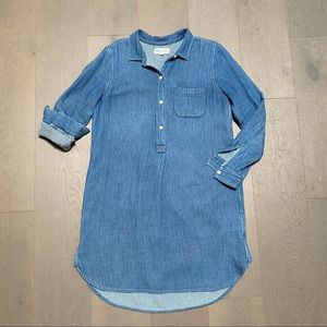 Madewell Chambray Popover Shirt Dress